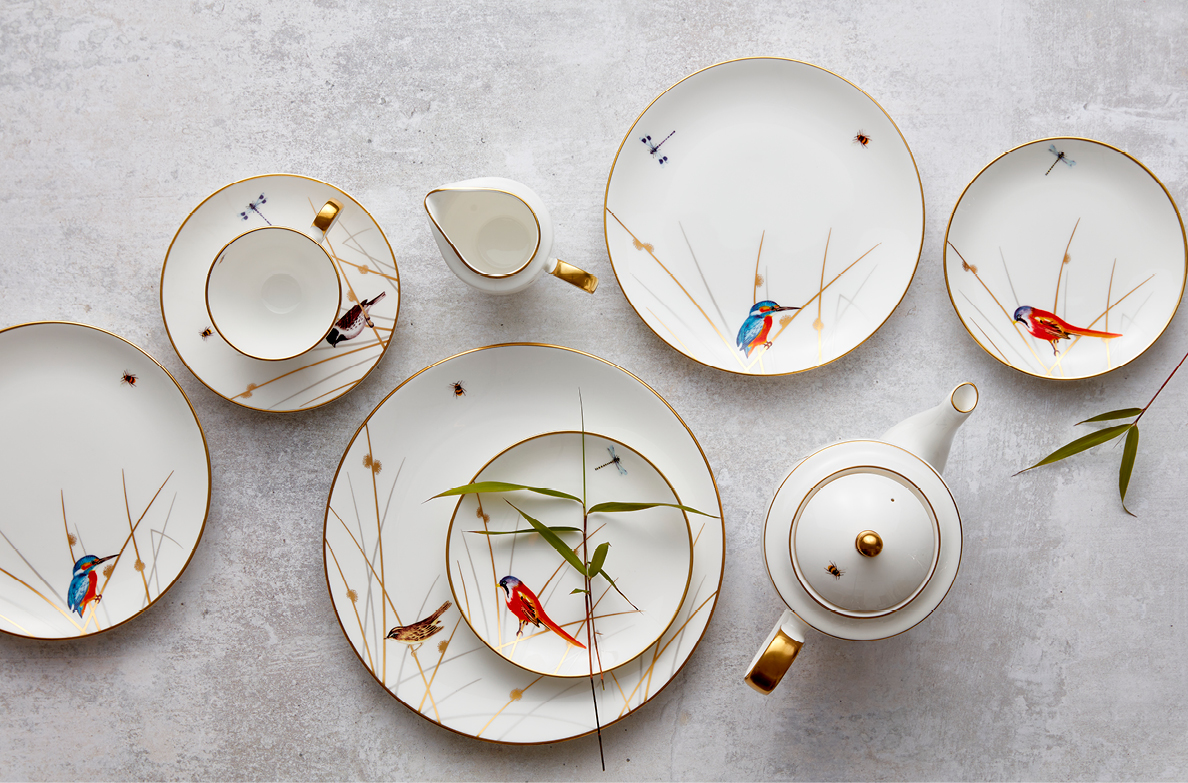 Bone china Reed Collection