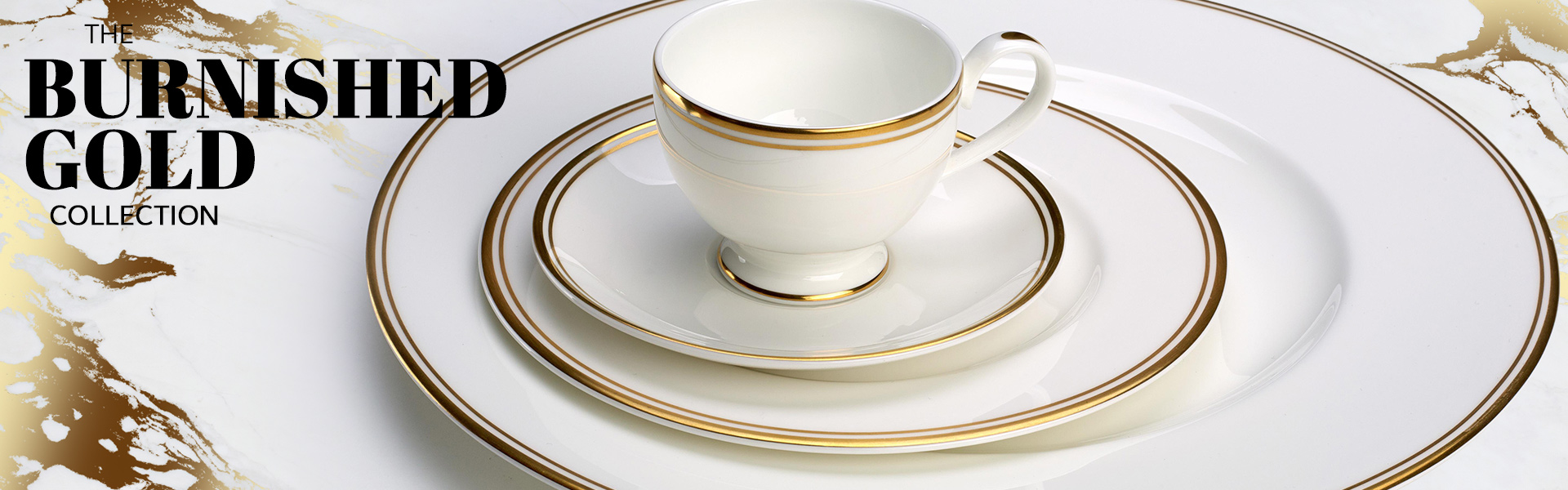stack of bone china plates with a tea cup and saucer