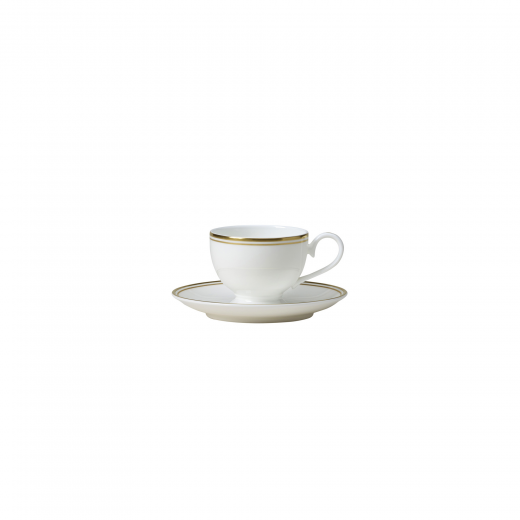 Burnished Gold Espresso Cup and Saucer Combined
