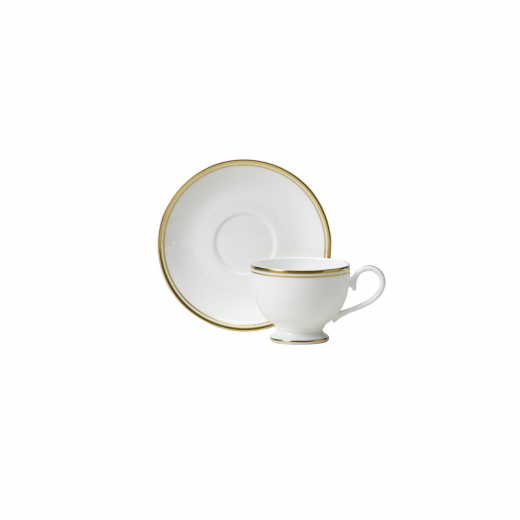 Burnished Gold Espresso Cup And Saucer