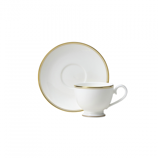 Burnished Gold Tea Cup And Saucer