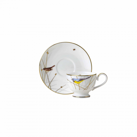 Reed Footed Espresso Cup & Saucer