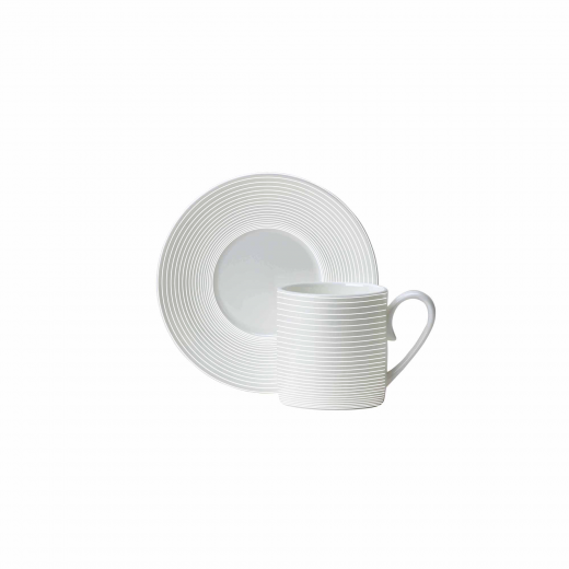 Spiro Straight Sided Espresso Cup And Saucer
