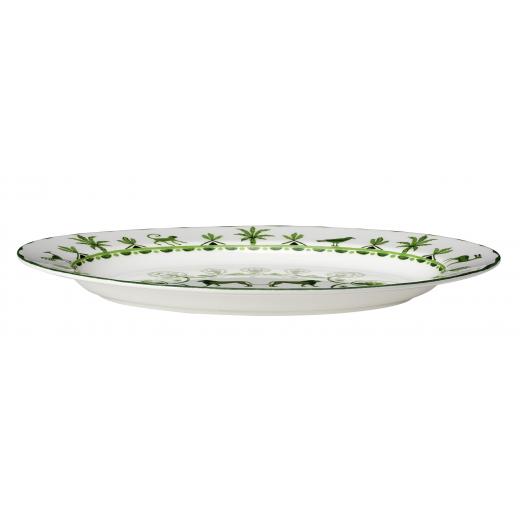 Sultan's Garden Oval Platter Side View